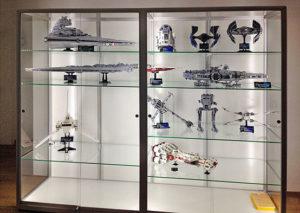 Glasvitrine für Star Wars und Lego Fans,