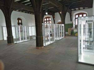 freistehende Ausstellungvitrinen mit LED